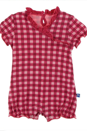Kickee Pants Red Gingham Romper - Front cropped