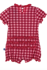 Kickee Pants Red Gingham Romper - Front full body