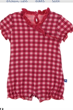 Kickee Pants Red Gingham Romper - Product List Image
