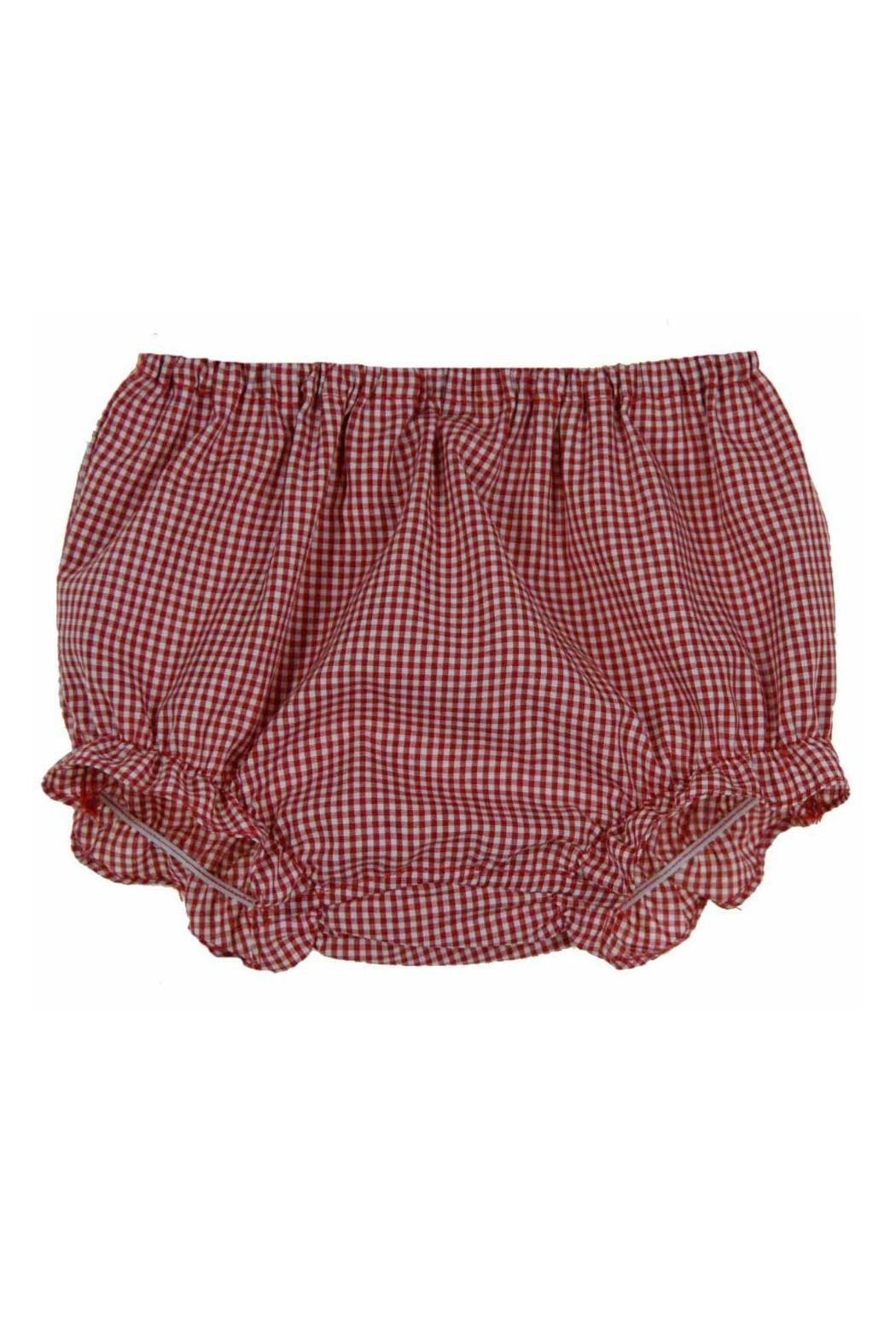 Rosalina Red-Gingham-Ruffled Diaper Cover - Front Full Image