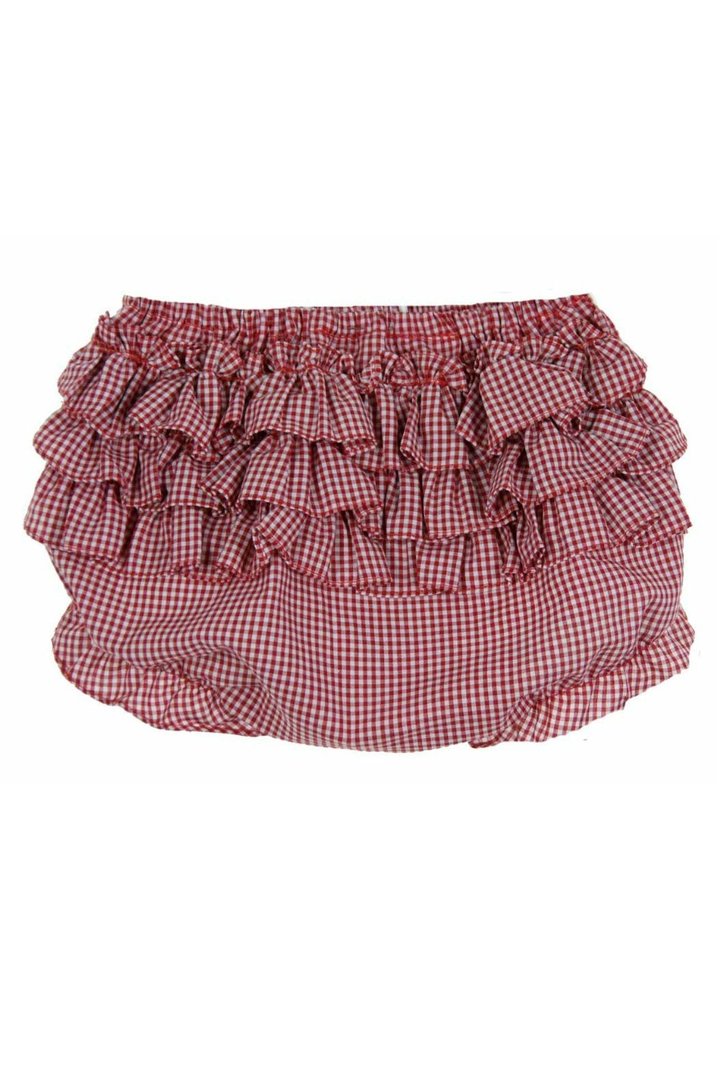 Rosalina Red-Gingham-Ruffled Diaper Cover - Front Cropped Image