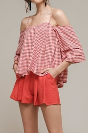 Moon River Red Gingham Top - Product Mini Image
