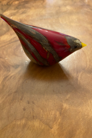 tesoro  Red Glass Bird - Product Mini Image