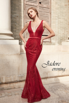 Jadore Red Glitter Gown - Product List Image