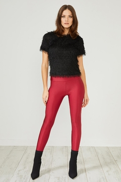 Urban Touch Red Glitter Leggings - Product List Image
