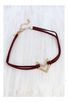 Canvas Red&Gold Choker - Alternate List Image
