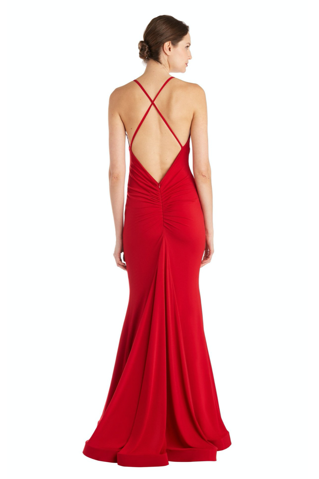 Issue New York Red Gown - Front Cropped Image