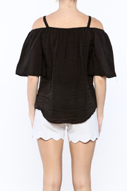 Red Haute Black Loose Top - Back cropped