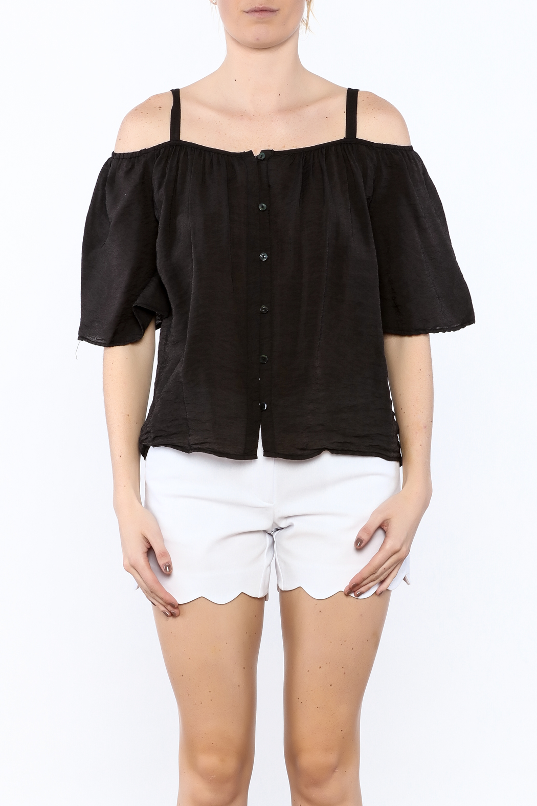 Red Haute Black Loose Top - Side Cropped Image
