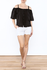 Red Haute Black Loose Top - Front full body