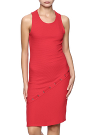 Red Haute Side Stitch Dress - Product Mini Image