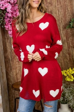 Shoptiques Product: Red Heart Sweater