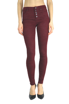 Tractr Blu Red Hi-waist Button front Jeans - Product List Image