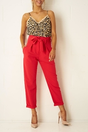 frontrow Red High-Waist Trousers - Product Mini Image