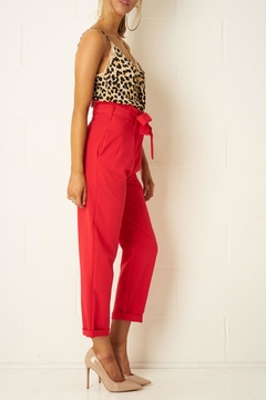 frontrow Red High-Waist Trousers - Alternate List Image