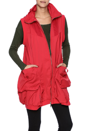 Red Hooded Bubble Vest - Product Mini Image