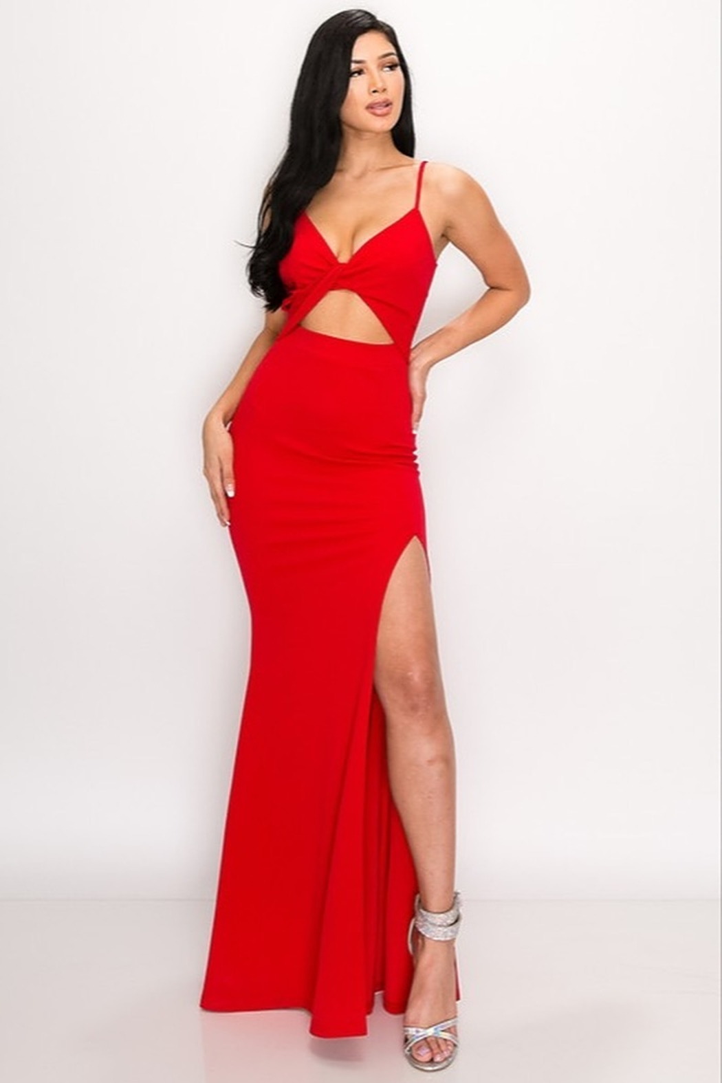 privy Red Hot Gown - Front Full Image