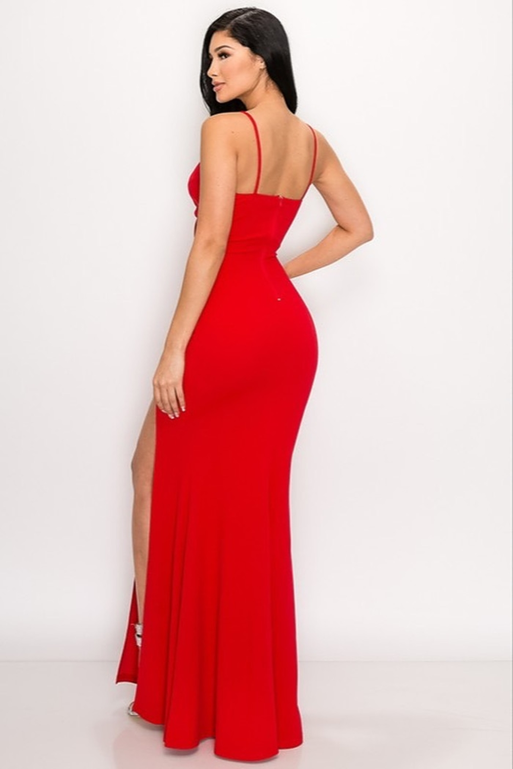 privy Red Hot Gown - Side Cropped Image
