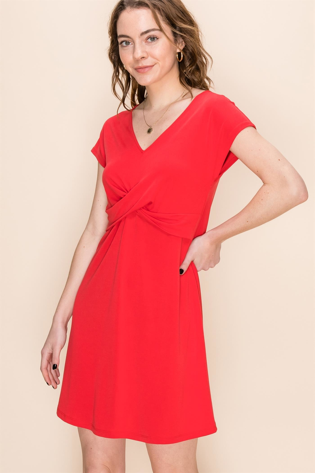 Double Zero Red Hot Summer Dress - Front Cropped Image