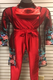 Uptown U.S.A Red Hot Wrap Catsuit - Side cropped