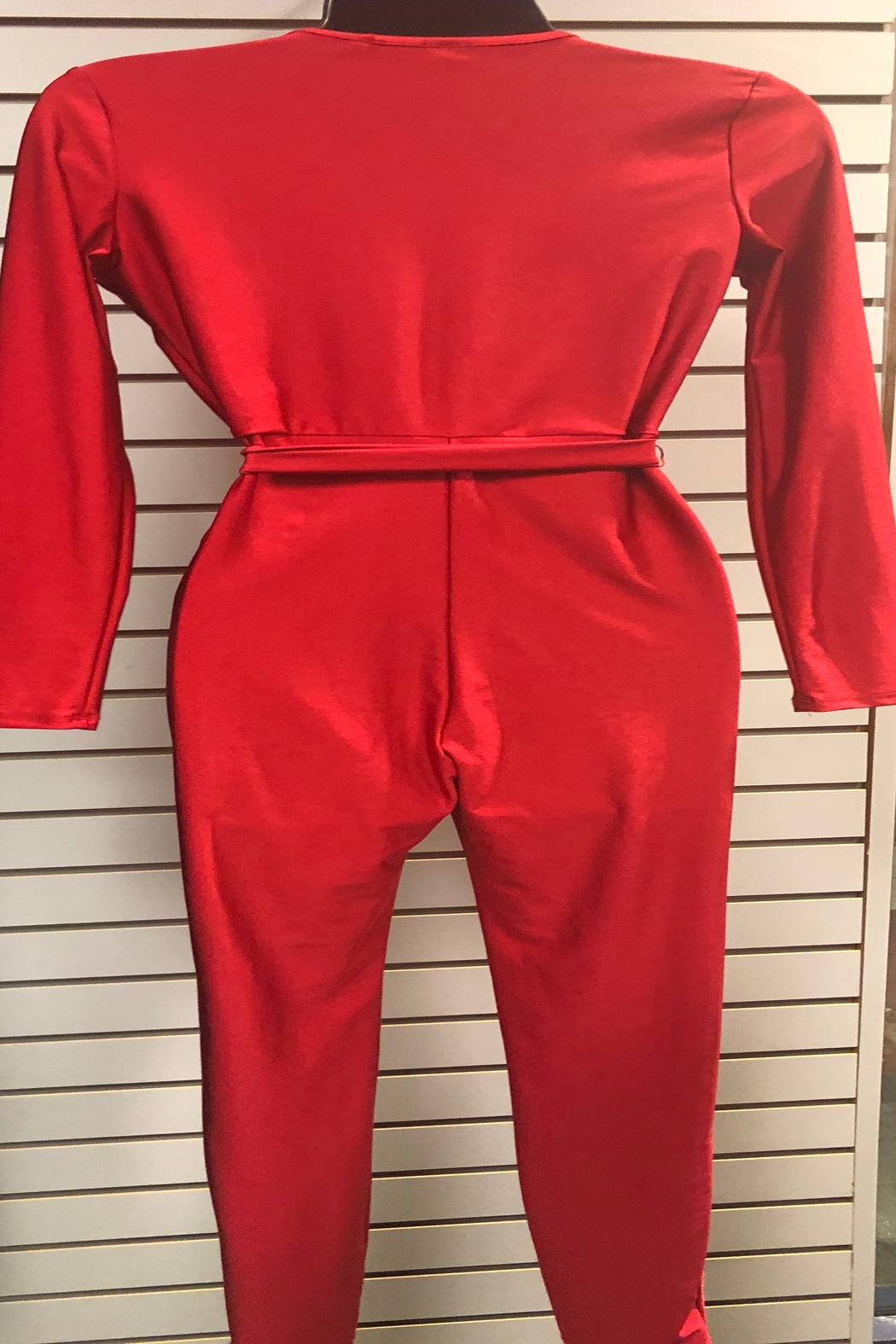 Uptown U.S.A Red Hot Wrap Catsuit - Front Full Image