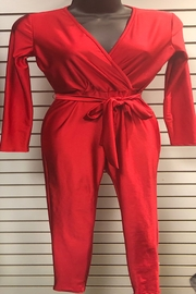 Uptown U.S.A Red Hot Wrap Catsuit - Front cropped