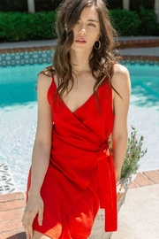 THML Clothing Red Hot Wrap-Dress - Product Mini Image