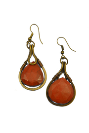 Anju Handcrafted Artisan Jewelry Red Jasper Earring - Product Mini Image