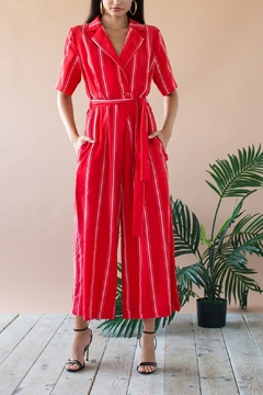 Eva Franco Red Jumpsuit - Product List Image