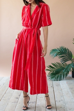 Eva Franco Red Jumpsuit - Alternate List Image