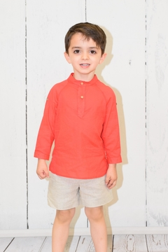 cesar blanco Red & Khaki Outfit - Product List Image