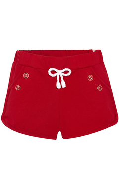 Shoptiques Product: Red Knit Shorts