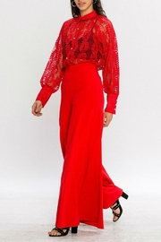 Jealous Tomato Red Lace Blouse - Front full body