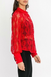 Jealous Tomato Red Lace Blouse - Side cropped