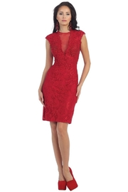 May Queen  Red Lace Short Dress - Product Mini Image