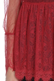 The Vintage Valet Red Lace Top - Side cropped