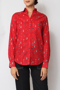 Acoté Red Lady Button-Down - Product List Image