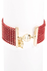 Wild Lilies Jewelry  Red Layered Bracelet - Front full body