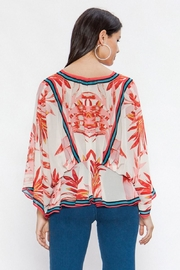 Flying Tomato Red Leaf Blouse - Side cropped