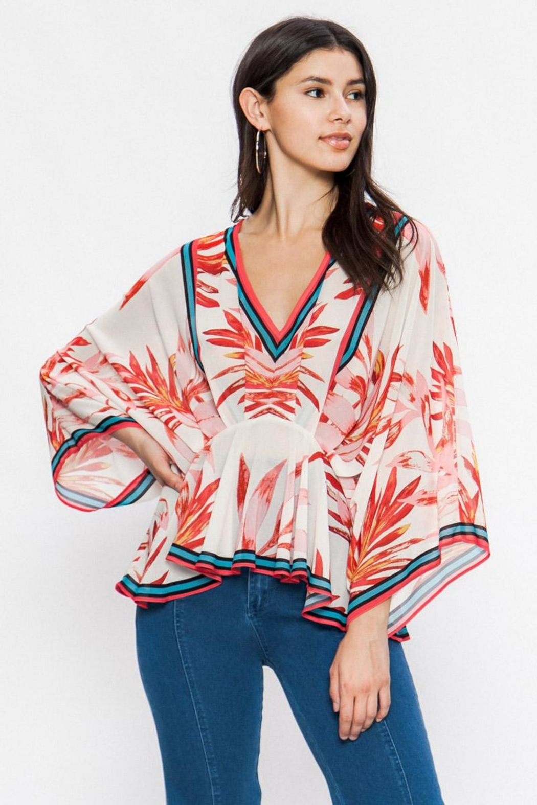 Flying Tomato Red Leaf Blouse - Main Image