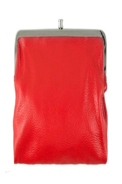 ICCO Red Leather Clutch - Alternate List Image