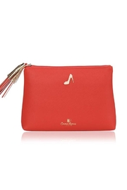 Emma Lomax Red Leather Clutch - Product Mini Image