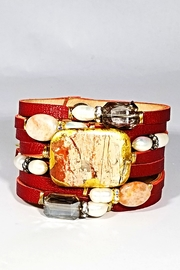Suzy T Designs Red Leather Cuff - Product Mini Image