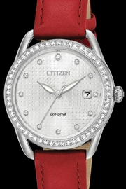 Citizen Watches Red Leather Watch - Product Mini Image