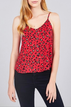 Active Basic Red Leopard Cami - Alternate List Image