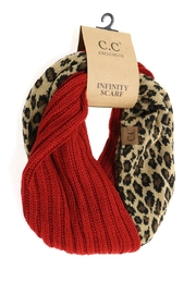 C.C Beanie Red-Leopard Infinity Scarf - Product Mini Image