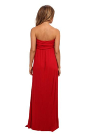 Culture Phit Red Liliana Maxi - Front full body
