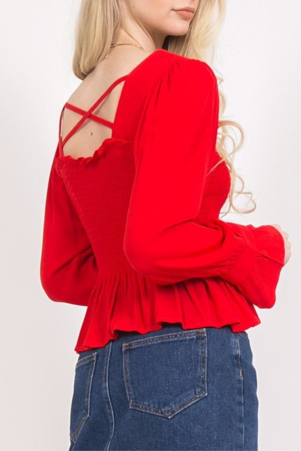 LoveRiche Red Long Sleeve - Front Full Image