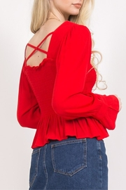 LoveRiche Red Long Sleeve - Front full body