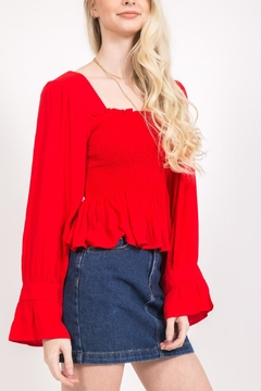 LoveRiche Red Long Sleeve - Product List Image